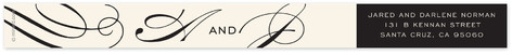 Ivory and Black Skinnywrap Address Labels