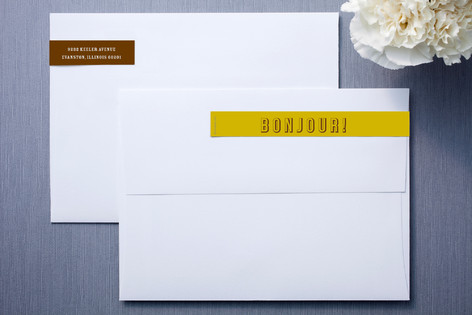 Yellow and Brown Skinnywrap™ Address Labels