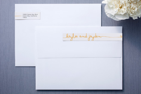 The Happy Couple Skinnywrap™ Address Labels