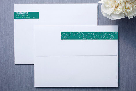 BLOCK PRINT WAVES Skinnywrap™ Address Labels