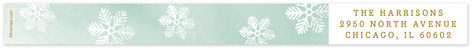 Frosted Snowflake Skinnywrap Address Labels