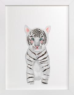 baby animal.tiger Children's Art Print