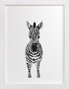 baby animal.zebra Children's Art Print