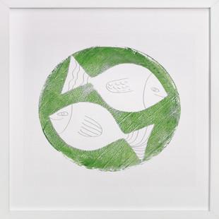 One Fish Two Fish - 1 Children's Art Print