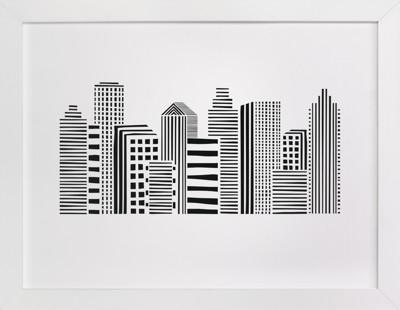 Linear Cityscape Children's Art Print