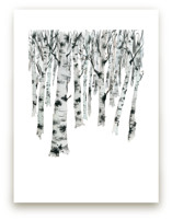 Birch Forest by Jean Choe Art and Design