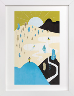 Mountain Sun Children's Art Print