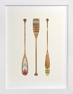 Let's Get Paddles Children's Art Print
