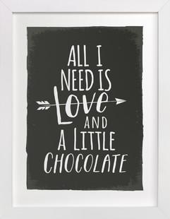 Love and Chocolate Children's Art Print