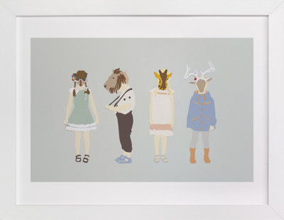 my head is an animal Children's Art Print