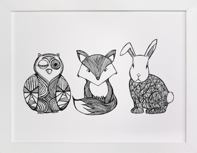 Forest Friends Children's Art Print