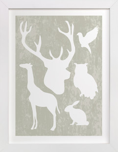 Animal Silhouettes Children's Art Print