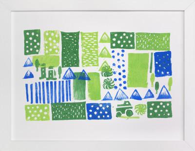 Green Mountain Children's Art Print