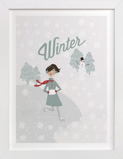 Winter Wonder Children's Art Print
