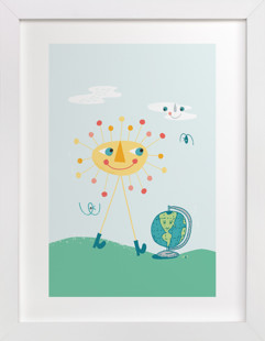 Good Day for a Walk Children's Art Print