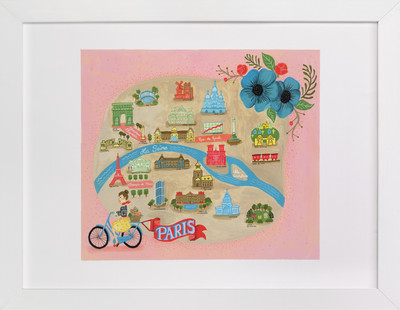 Map of Paris Children's Art Print