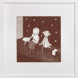 Star Gazers Children's Art Print