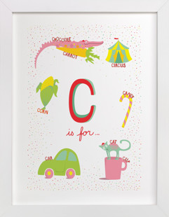 C is For Children's Art Print