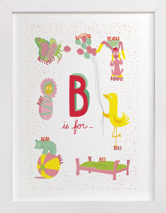 B is For Children's Art Print