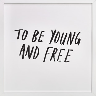 Young and Free Children's Art Print
