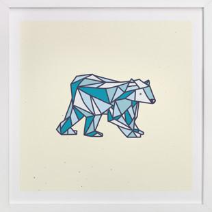 Polar Polygon Children's Art Print