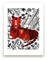 Jubilant Corral Tigers by marcia biasiello