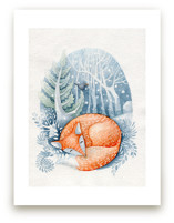 Sleeping on the snow by Anastasia Semanina