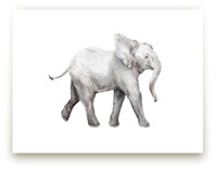 Baby Watercolor Elephan... by Lauren Rogoff