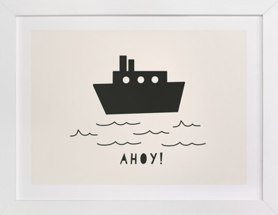 Ahoy Children's Art Print