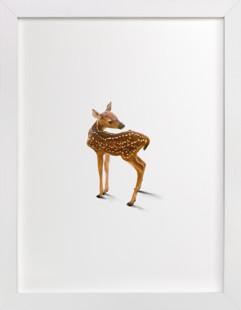 A Deer Friend Children's Art Print