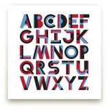 Geometric Alphabet by Faye Brown