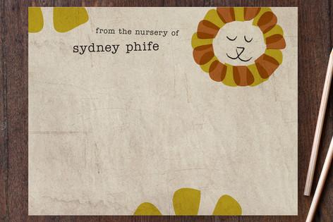 Happy Lion Children's Stationery