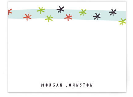 Starburst Stripe Children's Personalized Stationery