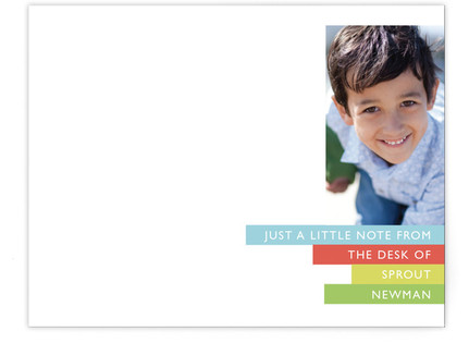Bright Stripes Children's Personalized Stationery