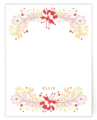 Fabulous Flowers Children's Personalized Stationery