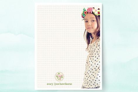 Avary's Wreath Children's Stationery