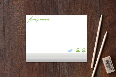 Classic Stripes and Sprout Children's Stationery