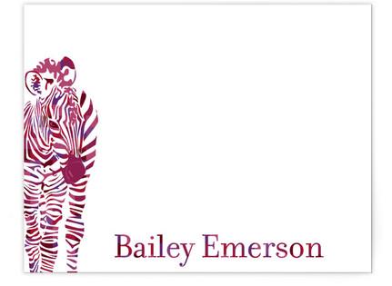 Zebra Children's Personalized Stationery