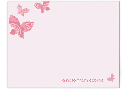 Monarch Flutter Children's Personalized Stationery