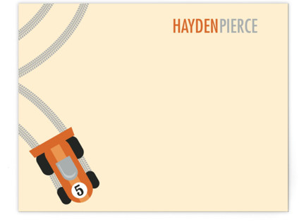 Racing Children's Personalized Stationery