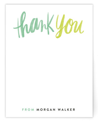 Thank You Script Children's Personalized Stationery