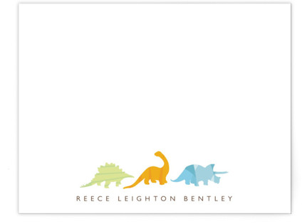 Dino Parade Children's Personalized Stationery
