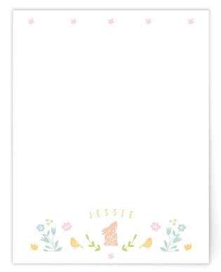 Bunny Children's Personalized Stationery