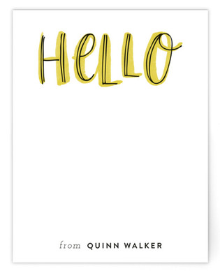 Hello Outlines Children's Personalized Stationery