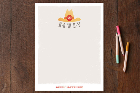 Howdy Children's Stationery