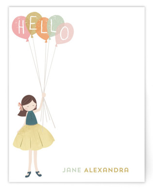 A Sweet Hello Children's Personalized Stationery