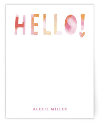 Artsy Hello Children's Personalized Stationery
