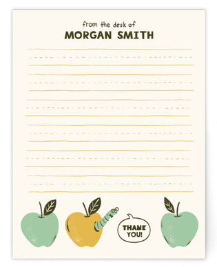 Book Worm Social Stationery Children's Personalized Stationery