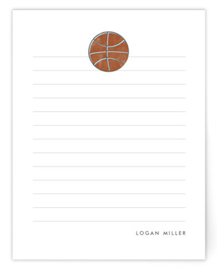 Basketball Children's Personalized Stationery