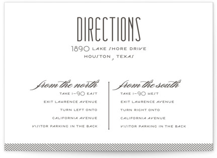 Twine Letterpress Directions Cards